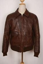 Vtg 40s Californian A-2 HORSEHIDE Leather Flight Motorcycle Jacket Medium
