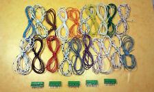 Lot de borniers à vis 8 pôles au pas de 2.54mm + 20 fils de couleurs différentes
