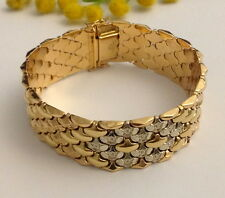 FABULOUS 18KT SOLID YELLOW / ROSE / WHITE  GOLD VINTAGE BRACELET