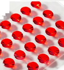 5mm  Pack of 100 Ruby Red Diamond  Edible Jelly Gems