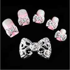 10pcs 3D Hollow bowknot Nail Art Alloy Decoration Jewelry Glitter Rhinestone