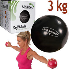 Msd SOFTMED 3 Kg BALLE MEDICA 12cm SOUPLE GONFLABLE sphère poids pilates fitness
