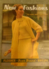 VINTAGE 1966- NEW FASHIONS TO KNIT & CROCHET FLEISHER BEAR BRAND BOTANY VOL. 97