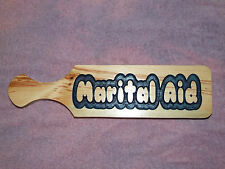 Custom Carved Wood Novelty School Fraternity Sorority OTK Paddle - Marital Aid