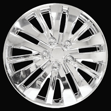 "New Chrome 16"" Inches Wheel Cover Hub Caps Full Set Of  4 EZ Snap In Accesories"