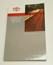 2012 TOYOTA COROLLA MATRIX OWNERS MANUAL XRS S BASE HATCHBACK V4 2.4L 1.8L OEM