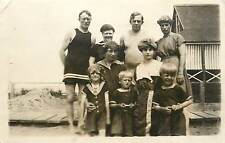 1907-1915 Real Photo PC; All Ages Family in Old fashioned Bathing Suits Unposted
