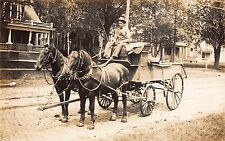 Real Photo Postcard Furniture Company Horse Pulled Work Wagon Residences~107921