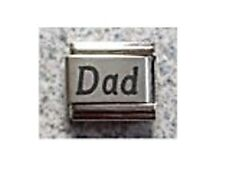 9mm Classic Size Italian Charms L20 Father  Family Dad