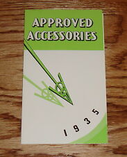 1935 Ford V-8 Car Approved Accessories Foldout Sales Brochure 35