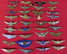 Difarent coutrys and Difarent Companys  36 Pilot  Wings  Pins and 1 Pilot Ring