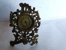 Tarde 19th Century British United Reloj de latón dorado co - 16 cm de altura