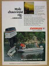 1977 Evinrude 75 Outboard Motor Glastron bass boat photo vintage print Ad