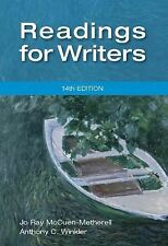Readings for Writers by Anthony C. Winkler and Jo Ray McCuen-Metherell (2012,...
