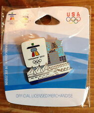 Vancouver 2010 Skyline with Cruise Ship Olympic Pin