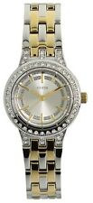 New GUESS Silver and Gold Toned Small Circular Women's Watch U12002L1 w/ box