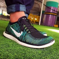 NIKE FREE 4.0 FLYKNIT Running Trainers Shoes Gym UK 7.5 (EUR 42) - Voltage Green