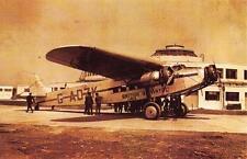 Postcard Nostalgia 1935 GATWICK AIRPORT British Airways FOKKER FXII Repro Card