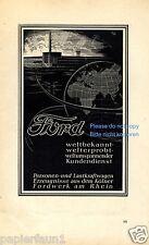 Ford Köln Reklame von 1941 Werbung ad Welt Erde Fordwerk Fabrik Auto