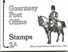 GUERNSEY POSTAGE STAMP BOOKLET 1970 MNH SB4 MILITARY UNIFORMS OFFICER 1793