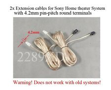 2 12ft speaker extension cables/wires made for select Sony Home Theater; 4.2mm