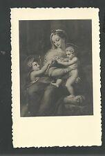Estampa antigua de Jesus y San Juan Bautista andachtsbild santino holy card