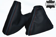 FITS BMW E39 M5 5 STITCH  LEATHER 1995-2003 MANUAL GAITERS SHIFT BOOT HANDBRAKE