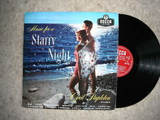CYRIL STAPLETON MUSIC FOR A STARRY NIGHT RARE ORIGINAL LP RED DECCA 1st PRESS EX