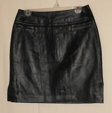 VINTAGE LEATHER SKIRT PENCIL STRAIGHT RETRO HIGH WAIST MINI SIZE 8