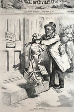 Thomas Nast INFLATION GOVERNOR TILDEN and RAG DOLL 1875 Matted Antique Print