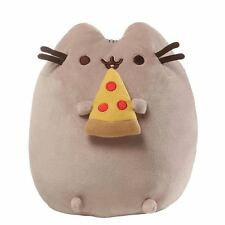 Gund PUSHEEN Cat Stuffed Snackable Plush Eating Pepperoni Pizza Brand New 9.5 in
