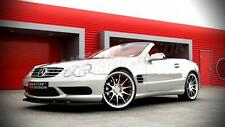 FRONT SPLITTER (TEXTURED) FOR MERCEDES SL R230 AMG PRE-FACE 2001-2006