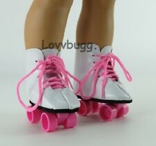 """Pink Roller Skates for 18"""" American Girl Doll Shoes Clothes Widest Selection!"""