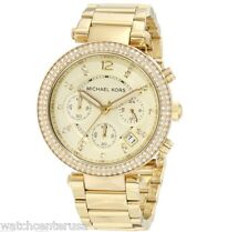 Michael Kors Womens Chronograph Parker Gold-tone Stainless Steel Watch MK5354
