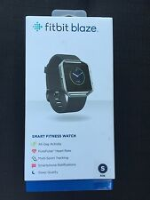 *NEW* Fitbit Blaze Smart Fitness Watch, Black Band Small, Stainless Steel