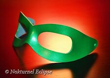 Riddler Green Leather Mask Halloween Batman Superhero Cosplay Costume Comic Con