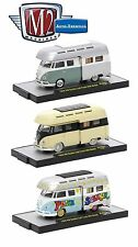 1:64 M2 Machines *AUTO-THENTICS MJS04* SET of 3  1959 VW Double Cab CAMPER Truck