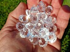 Faceted Acrylic Diamond Charms Fake Diamonds with Hole for Ribbon Pack Of 25