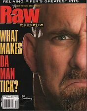 WWE Raw Magazine August 2003 Bill Goldberg, Roddy Piper VG 011816DBE