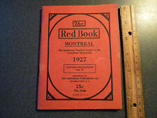 The Red Book Montreal 1927 American Tourist Guide to Canadian Metropolis