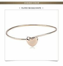 BRACELET HEAR ROSE GOLD PLATED  GORGEOUS HEART SHAPE  BANGLE LOVE FASHION 2017