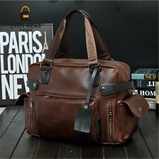 Men Leather Business Briefcase Shoulder Messenger Laptop Bag Handbag Brown Tote