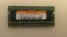 Modulo SODIMM 256MB DDR2 1RX16 PC2-3200S 333  x Notebook