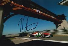 James calado main signé 12x8 photo sahara force india F1 14.