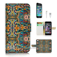 iPhone 7 (4.7') Flip Wallet Case Cover P2791 Tribal Art