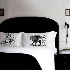Two Pillow fighting Mythological Enemies Centaur vs Griffin pillowcase set