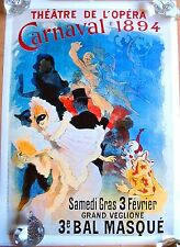 Theatre De L'Opera Carnaval 1894 Circus Vintage POSTER Printed in Italy 1991