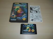 Flashback Complete Sega Genesis Game CIB - Missing Manual Covers