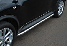 TO FIT NISSAN JUKE: STAINLESS STEEL CHROME SIDE BARS STEPS CURVED ENDS