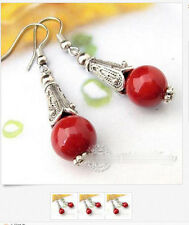 Special Offer Tibetan Silver Gemstone Turquoise Coral Handmade Earrings